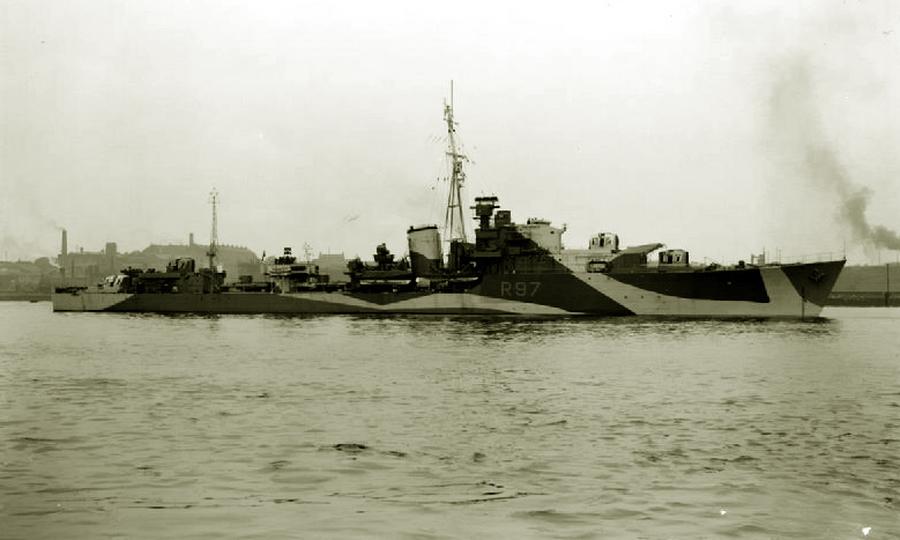 Британский эсминец «Гренвиль» - «Мюнстерланд»: трудная мишень | Warspot.ru