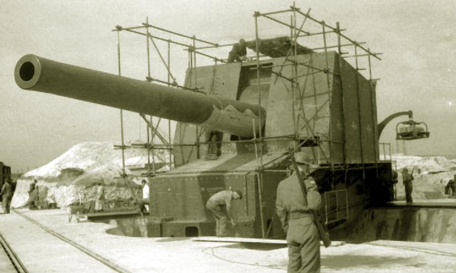 Британское 15-дюймовое орудие береговой батареи в Уонстоне - «Мюнстерланд»: трудная мишень | Warspot.ru