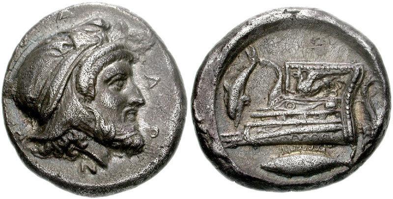 Фарнабаз, сатрап Геллеспонтской Фригии, на монете, отчеканенной в 398–396 годах до н.э. en.wikipedia.org - Военная кампания спартанца Деркилида | Warspot.ru