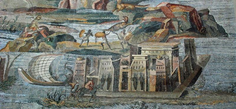 Фрагмент мозаики из Национального археологического музея Палестрины (Италия). commons.wikimedia.org - Римляне в стране фараонов | Warspot.ru