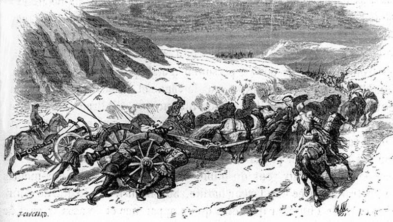 Переправа пушек через перевал. warfarehistorynetwork.com - Яростная битва на реке Таро | Warspot.ru