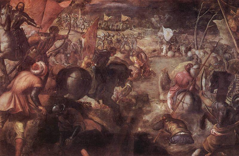 Битва при Форново. Художник Тинторетто, 1579 год. wikimedia.org - Яростная битва на реке Таро | Warspot.ru