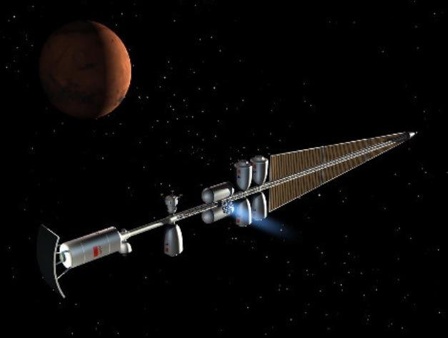 Тяжёлый межпланетный корабль с ЯЭРДУ в варианте 1961 года. Реконструкция Игоря Безяева energia.ru - «Вперёд — на Марс!» | Warspot.ru
