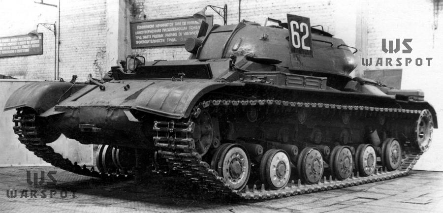 Макет для испытания ходовой части объекта «432» на базе танка ОТ-54 - Чистая «шестьдесятчетвёрка» | Warspot.ru