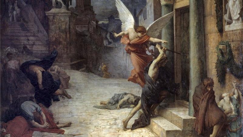 Чума в Риме. Художник Жюль-Эли Делоне (1869).pinterest.co.uk