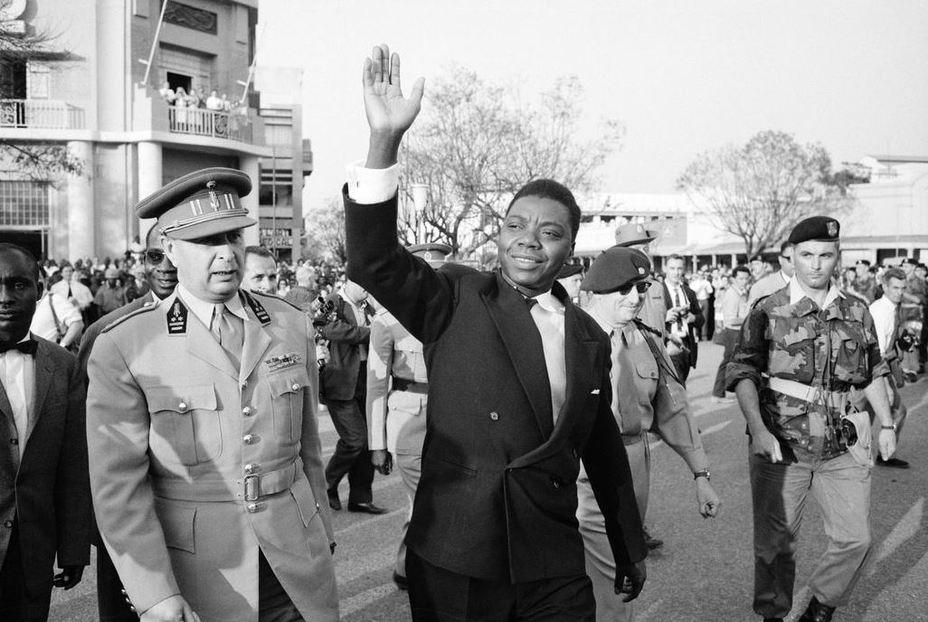 Моиз Чомбе перед церемонией передачи власти и провозглашения независимости Катанги, 1960 годpro.magnumphotos.com