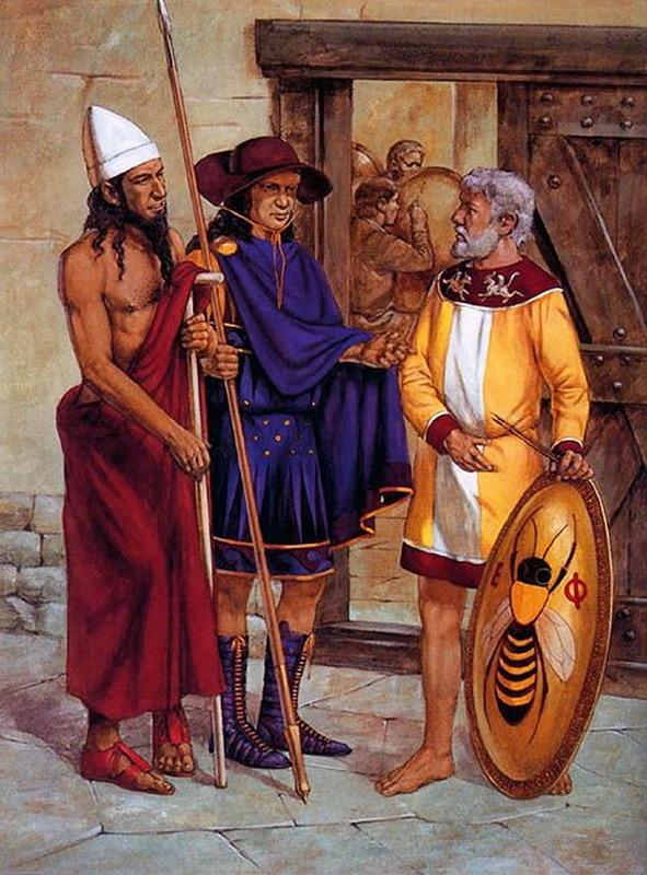 Спартанцы в Эфесе зимой весной 395 года до н.э. pinterest.co.uk - Агесилай в Малой Азии | Warspot.ru