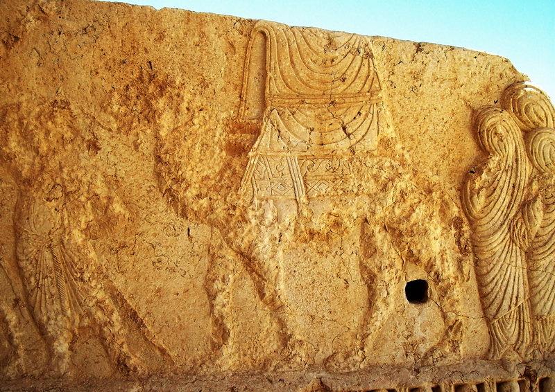 Пальмирский рельеф с изображением путешествующих женщин. Фото автора