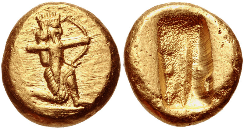Персидский дарик. Монета весом 8,4 г с высоким содержанием золота. commons.wikimedia.org - Последняя кампания Агесилая  | Warspot.ru