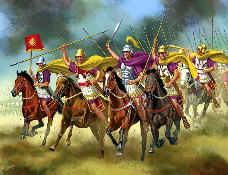 Македонская кавалерия. Реконструкция Дж. Шумейта. pinterest.com
