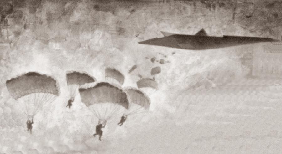 Единственный известный набросок Commando Spirit от McDonnell Douglas. Хорошо видно, что большую часть решений этот проект заимствует от малозаметных бомбардировщиков того периода - В поисках равного для «Геркулеса» | Warspot.ru
