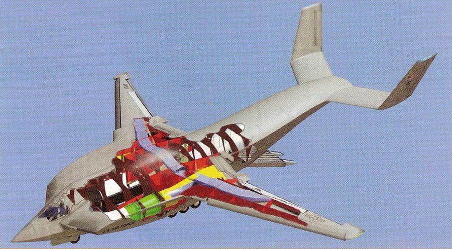 Внутреннее устройство перспективного транспортного самолёта MEDUSA для программы AMC-X от Lockheed Martin - В поисках равного для «Геркулеса» | Warspot.ru