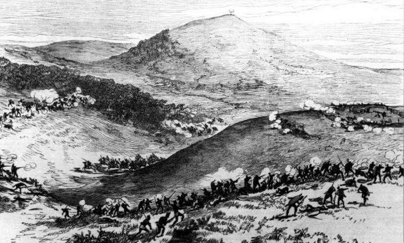 Бой у Кентане. Источник: Ian Castle. British Infantryman in South Africa 1877–1881. — Osprey Publishing, 2003