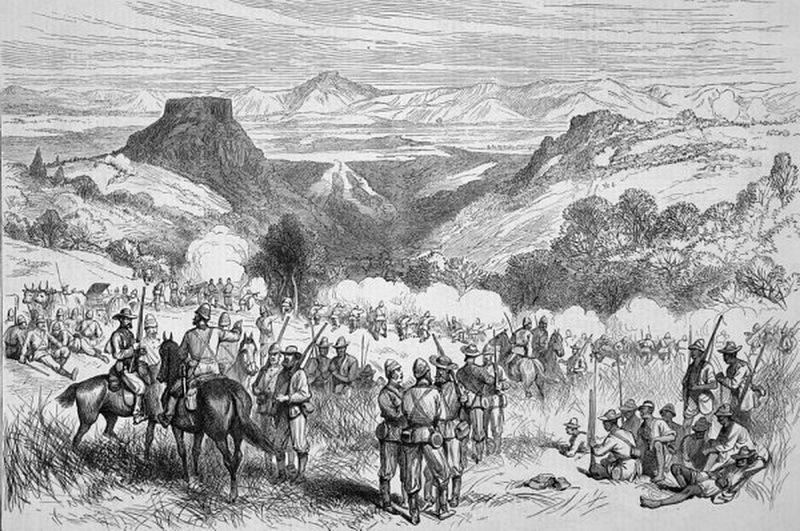 Операция в Аматольских горах. Источник: Keith Smith. The Wedding Feast War: The Final Tragedy of the Xhosa People. — Frontline Books, 2012