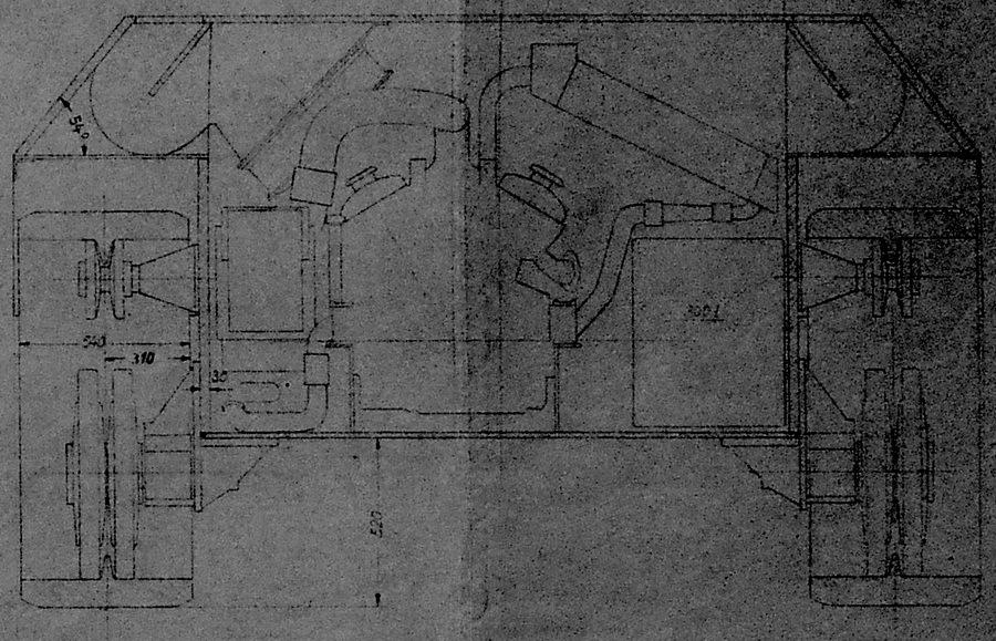 Фрагмент чертежа Sturmgeschütz auf Pz.IV от 17 января 1944 года. Видны 540-мм траки, новые опорные катки и наклонные борта, а все окна для воздуха «переехали» на крышу. Эти наработки использовали на едином шасси III/IV - Последние танки Третьего рейха | Warspot.ru