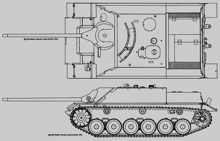 Перспективное самоходное орудие Panzer IV lang (E) было призвано заменить сразу несколько типов машин - Последние танки Третьего рейха | Warspot.ru