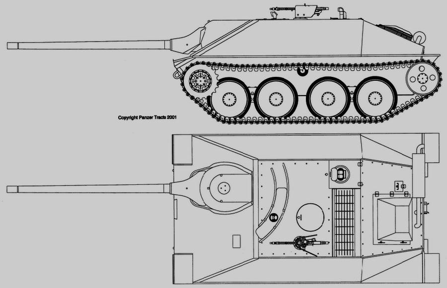 Истребитель танков Jagdpanzer 38 D с 75-мм орудием PaK 42 L/70 - Последние танки Третьего рейха | Warspot.ru