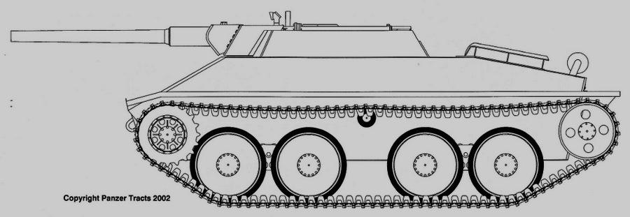Вариант Aufklärer 38 D с 75-мм орудием в открытой рубке - Последние танки Третьего рейха | Warspot.ru