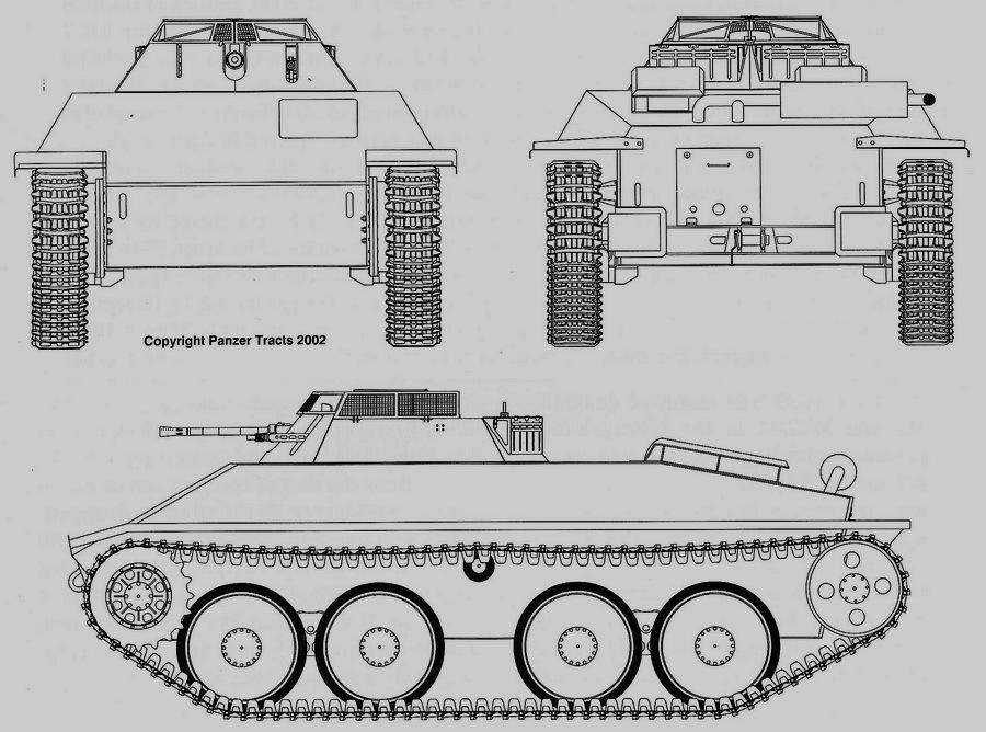 Разведчик Aufklärer 38 D с 20-мм автоматической пушкой в открытой башне - Последние танки Третьего рейха | Warspot.ru