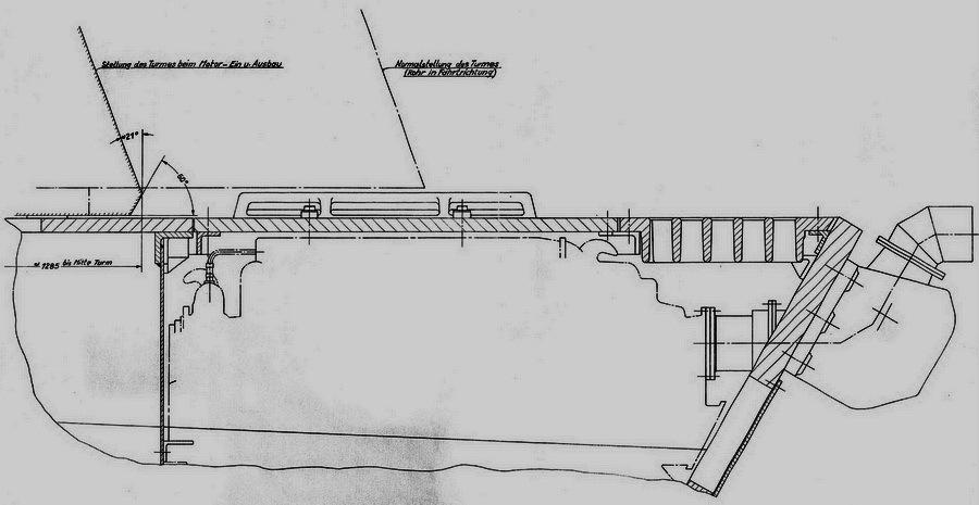 Чертёж установки двигателя Sla 16 от 29 ноября 1944 года - Последние танки Третьего рейха | Warspot.ru
