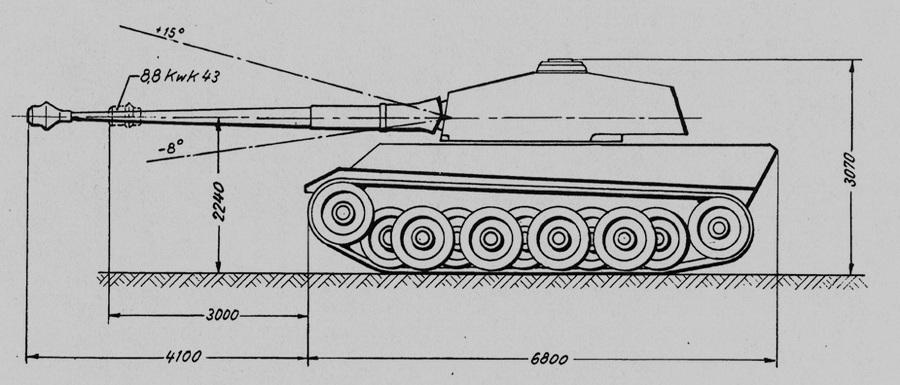 Эскизный проект установки 105-мм орудия на «Тигр II» - Последние танки Третьего рейха | Warspot.ru