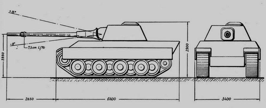 Эскизный проект «Пантеры» с 88-мм орудием - Последние танки Третьего рейха | Warspot.ru