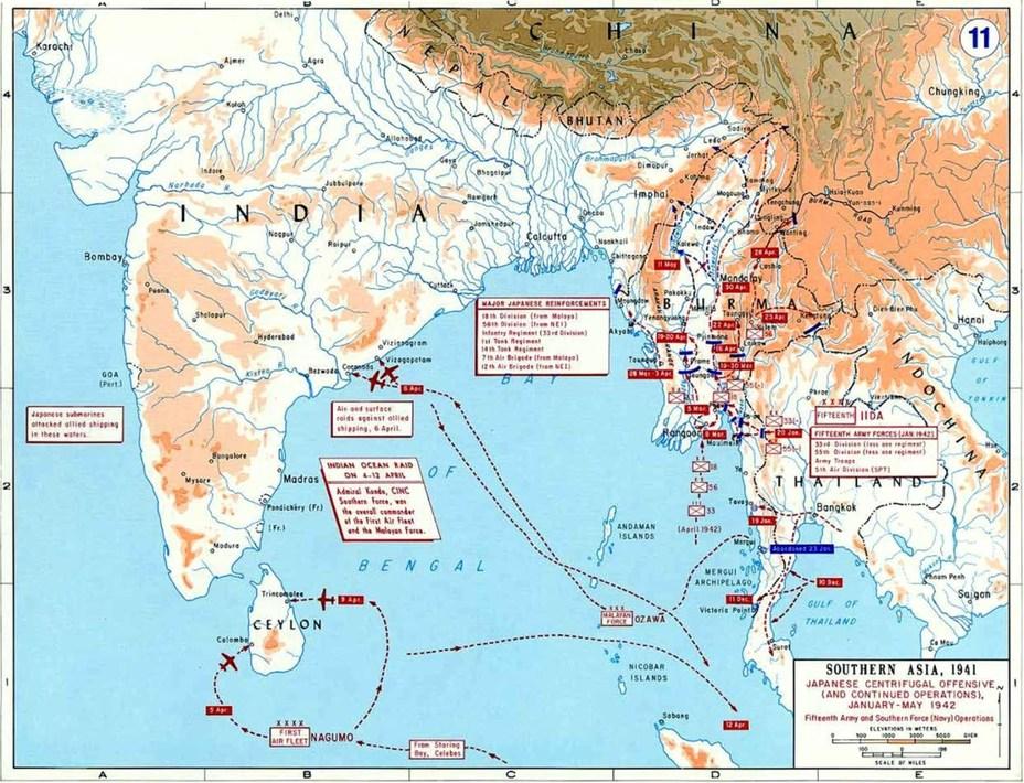 Операции японских сил в Индийском океане в первой половине 1942 года - Последний успех японского флота   Warspot.ru