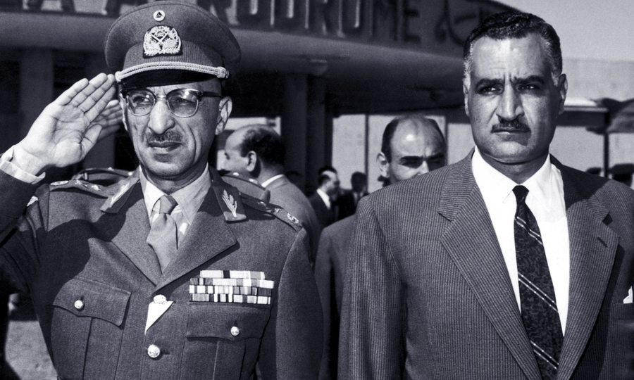 Король Афганистана Мухаммед Захир-шах и президент ОАР Гамаль Абдель Насер, Каир, 1950-е гг.
