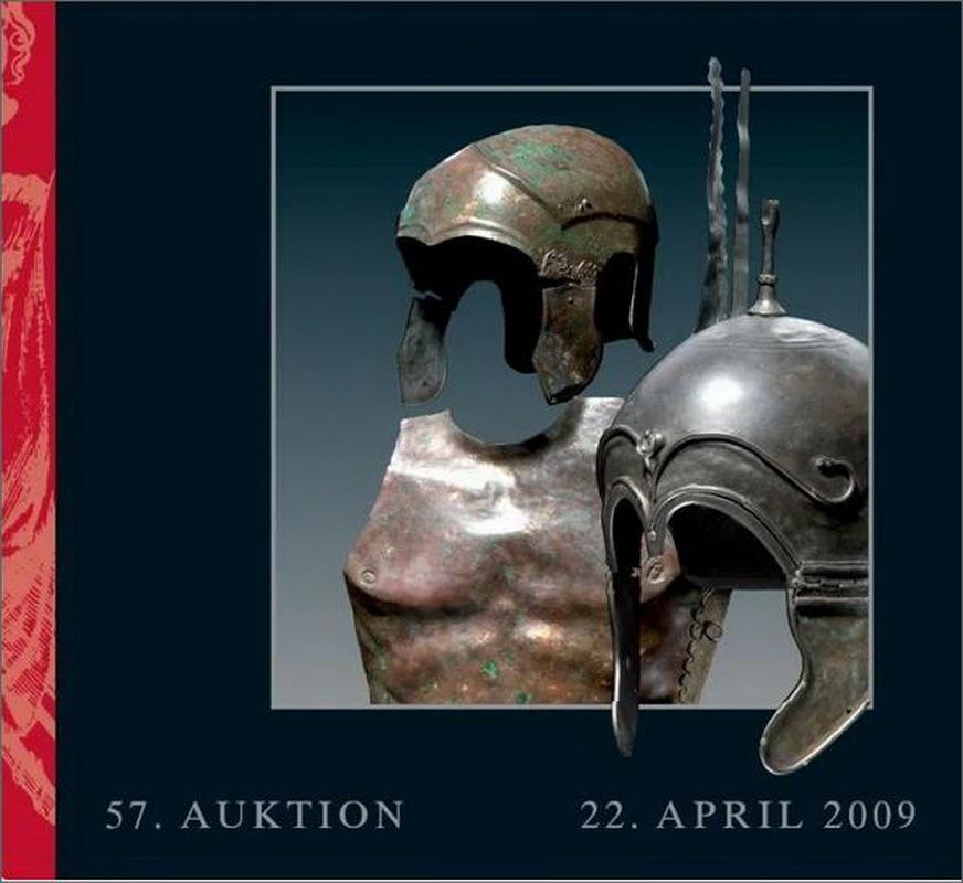Обложка каталога 57-го аукциона Херманн Хисторика 22 апреля 2009 года, на котором за 30 000 и 35 000 евро новым владельцам были проданы два шлема, ранее находившиеся в коллекции Акселя Гуттманна. strator.livejournal.com - Шлемы, их грабители и коллекционеры | Warspot.ru