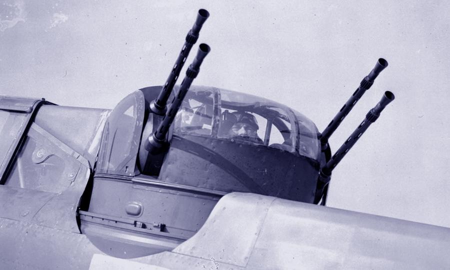 Пулемётная турель «Болтон-Пол» тип «A» Mk.II, стоявшая на всех типах серийных британских турельных истребителей. В данном случае это «Дефиант» 264-й эскадрильи - Летающие башни, или наследники ган-басов | Warspot.ru