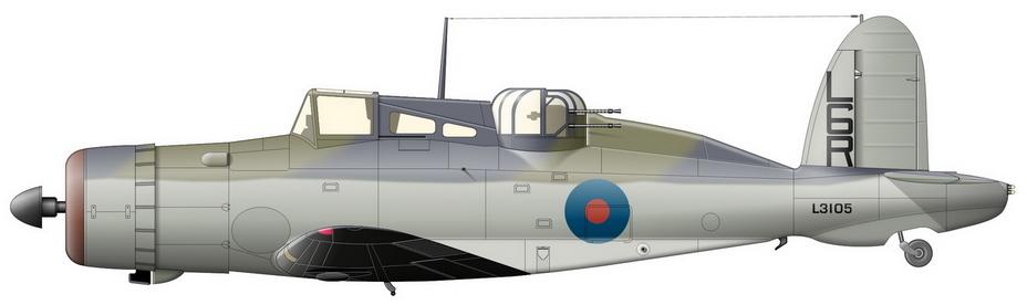 «Рок» Mk.I с серийным номером L3105 из 806-й эскадрильи, авиабаза Уорти-Даун, начало 1940 года - Летающие башни, или наследники ган-басов | Warspot.ru