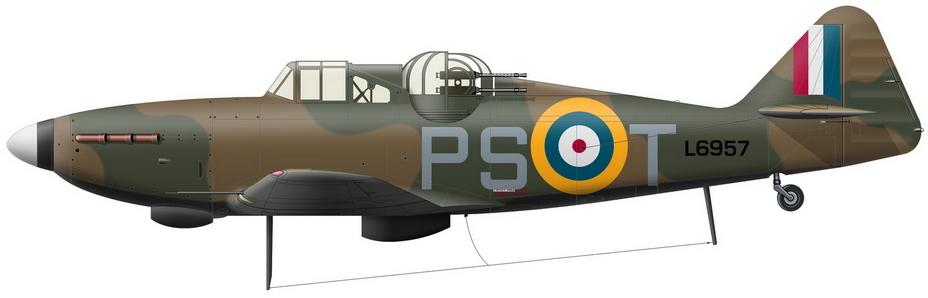«Дефиант» Mk.I из состава 264-й эскадрильи, в мае 1940 года летавший как на Голландию, так и к Дюнкерку - Летающие башни, или наследники ган-басов | Warspot.ru