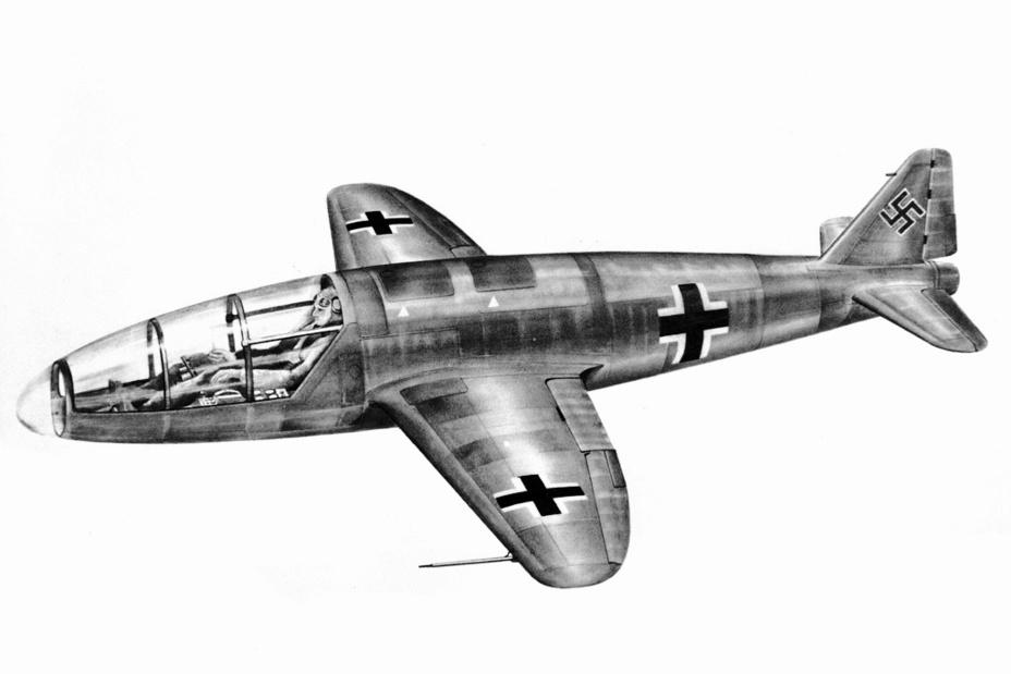Немецкий экспериментальный ракетоплан He 176 в представлении послевоенного художника epizodyspace.ru - Смертоносные «Кометы» | Warspot.ru