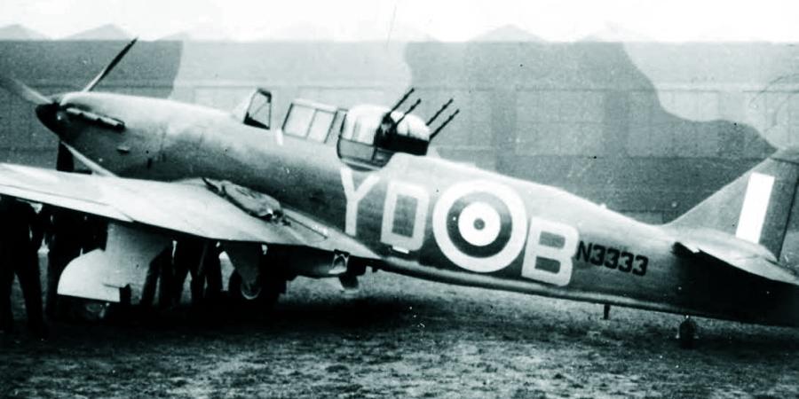 «Дефиант» Mk.I с серийным номером N3333, в ноябре 1940 года поступивший в 255-ю эскадрилью, но пока ещё сохраняющий дневную окраску - Новые роли турельного неудачника   Warspot.ru