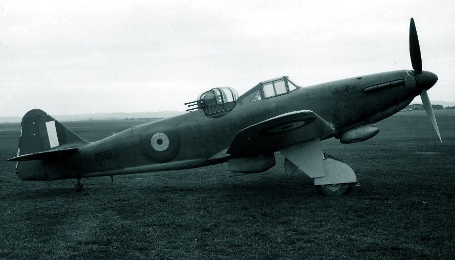 Самолёт с серийным номером N1551, второй прототип «Дефианта» Mk.II - Новые роли турельного неудачника   Warspot.ru