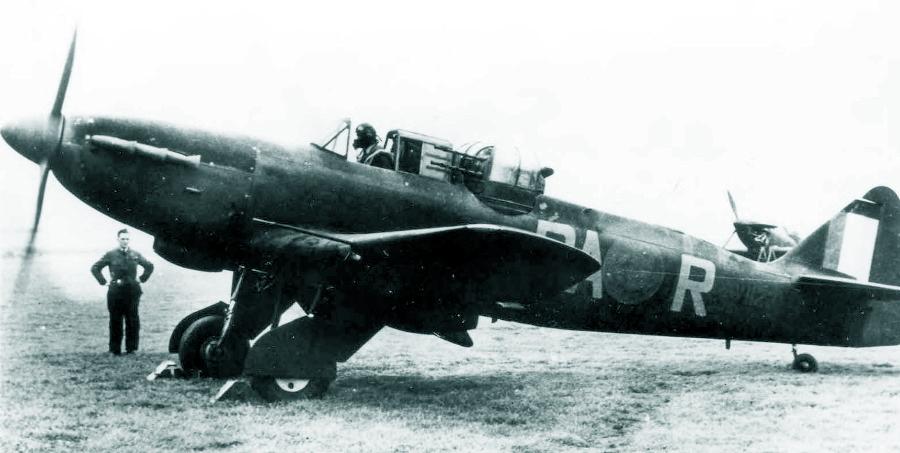 «Дефиант» Mk.I с серийным номером V1123 из состава 410-й (канадской) эскадрильи, август-сентябрь 1941 года - Новые роли турельного неудачника   Warspot.ru