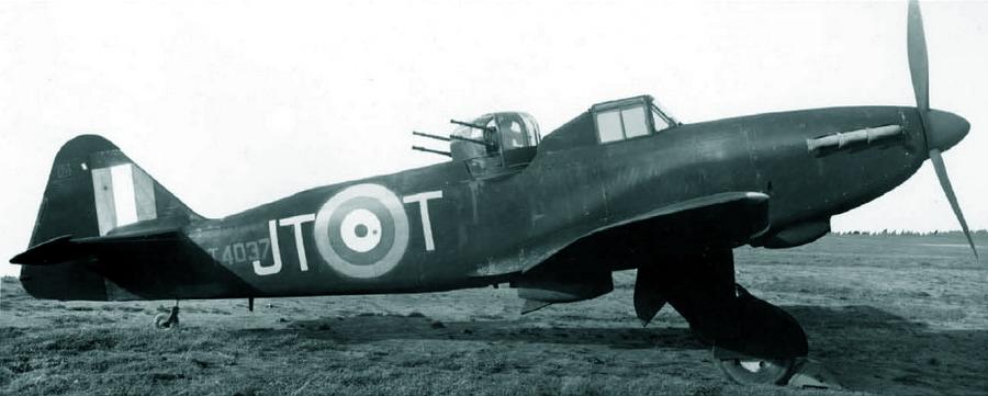 «Дефиант» Mk.I с серийным номером T4037 из состава 256-й эскадрильи, конец 1941 или начало 1942 гг. - Новые роли турельного неудачника   Warspot.ru