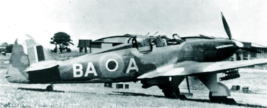 Старый и заслуженный борт N3398 из 277-й эскадрильи, 1942 год. Держатели присутствуют, но не такие как испытывались на прототипе конверсии - Новые роли турельного неудачника   Warspot.ru