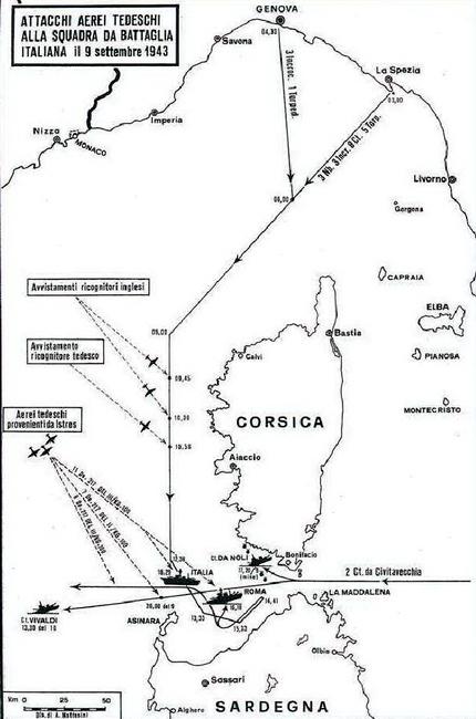 События в проливе Бонифачо 9 сентября 1943 года - Сломанная ось, или Охота на вчерашнего союзника   Warspot.ru