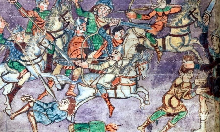 Франкские всадники атакуют конных стрелков - Главная битва христианской Европы | Warspot.ru