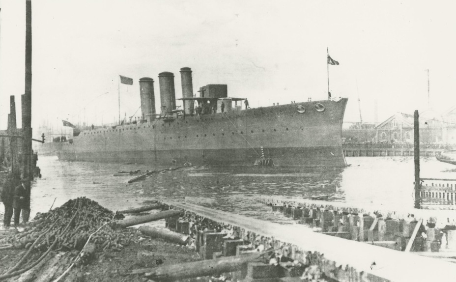 Спуск на воду крейсера Sydney, 29 августа 1912 года navy.gov.au - Победитель «корсаров Кайзера»   Warspot.ru