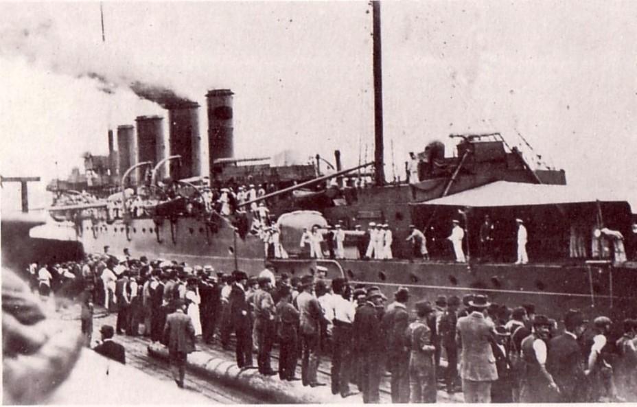 Sydney выходит в море для сопровождения первого конвоя АНЗАК. Октябрь 1914 года awm.gov.au - Победитель «корсаров Кайзера»   Warspot.ru