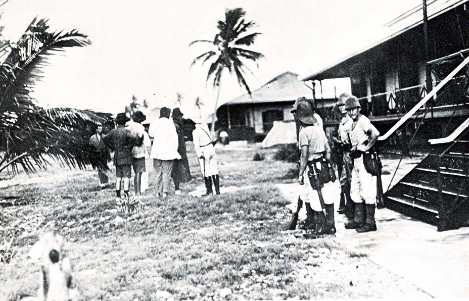 Германские десантники на острове Дирекция утром 9 ноября 1914 года awm.gov.au - Победитель «корсаров Кайзера»   Warspot.ru