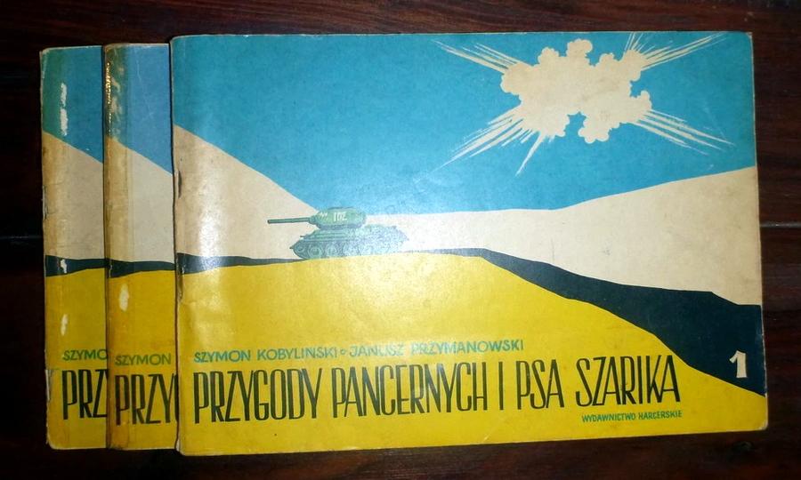 Три тома комикса «Приключения танкистов и пса Шарика» получили довольно минималистическую обложку - Весёлые картинки Warspot: четыре танкиста и собака на бумаге   Warspot.ru