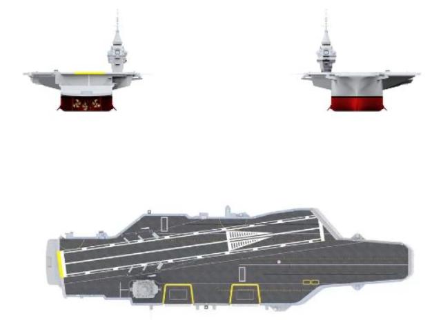 Проекции перспективного авианосца naval-group.com - Франция построит новый атомный авианосец | Warspot.ru