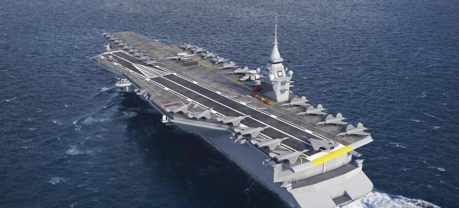 Рендер перспективного французского авианосца naval-group.com - Франция построит новый атомный авианосец | Warspot.ru