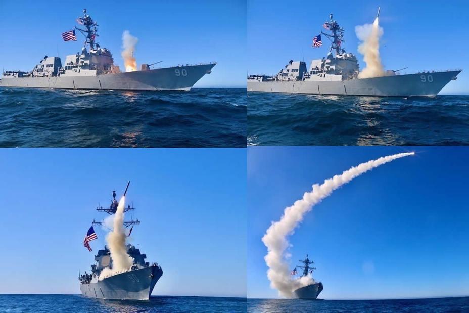 Пуск ракеты Tomahawk Block V с эсминца USS Chafee navalnews.com - «Томагавки» вновь стали противокорабельными | Warspot.ru