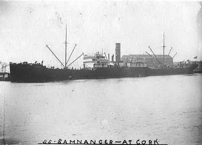Норвежское судно «Самнангер», потопленное Отто Кречмером. wrecksite.eu - Отто Кречмер — истребитель лайнеров | Warspot.ru