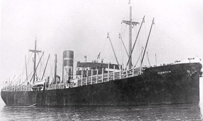Голландское судно «Фармсум», потопленное Отто Кречмером. wrecksite.eu - Отто Кречмер — истребитель лайнеров | Warspot.ru