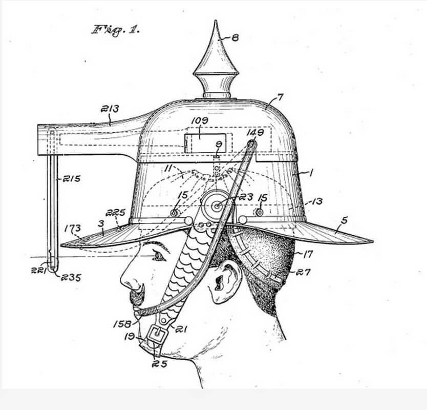 Чертёж из патента, выданного Альберту Прэтту. patents.google.com - Цифры Warspot: 105 лет назад | Warspot.ru